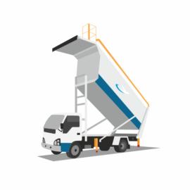 Спецавтомобиль для вывоза мусора с борта ВС